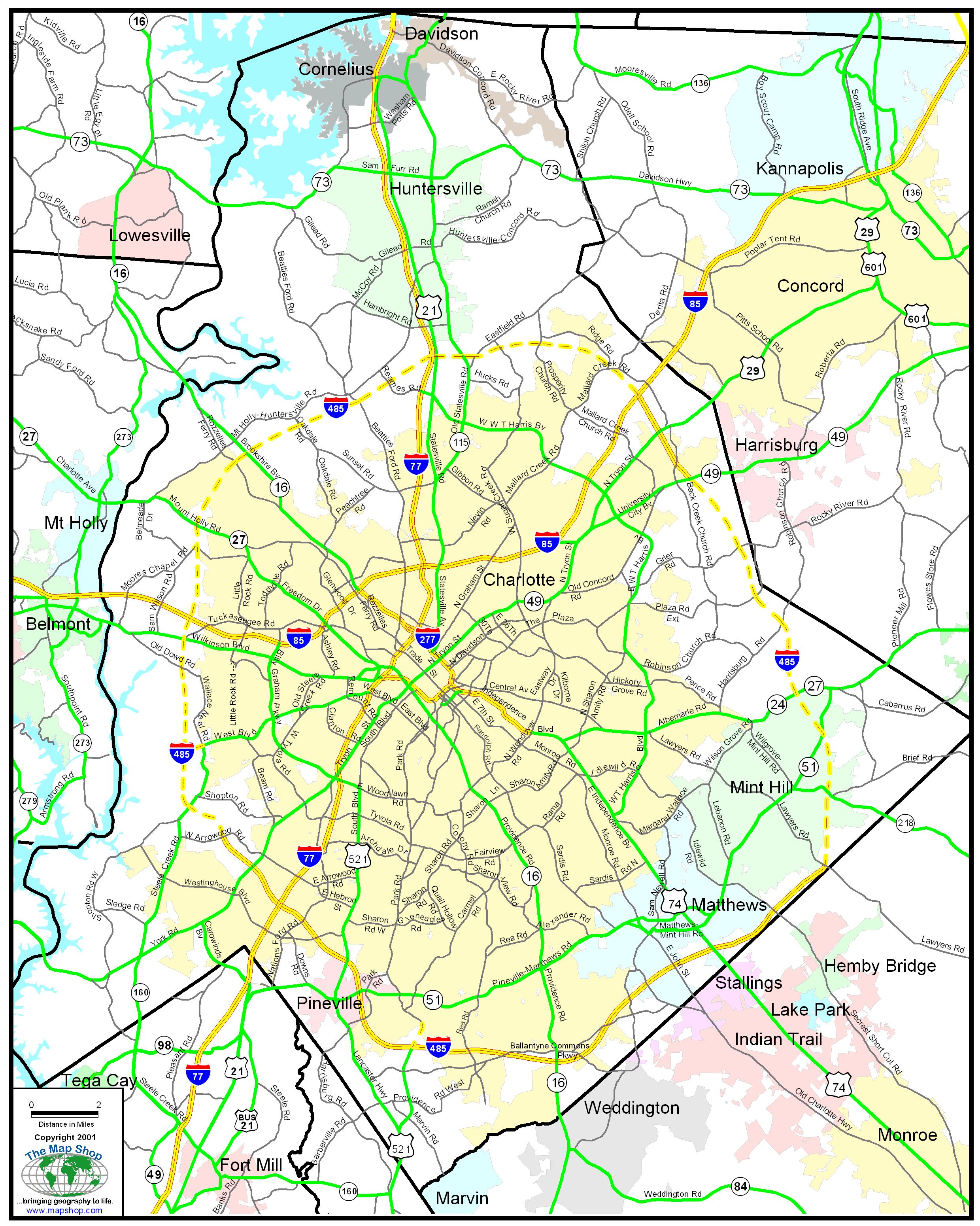 Maps Mecklenburg County